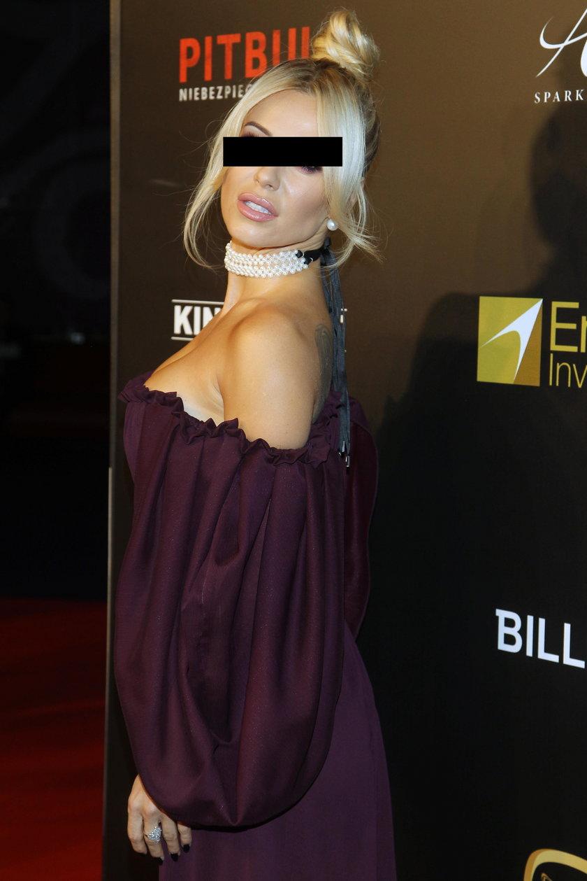 """Dorota R. na premierze filmu """"Pitbull. Niebezpieczne kobiety"""""""