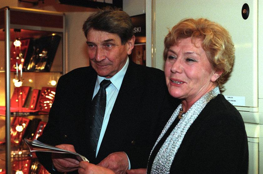 Teresa Lipowska z mężem