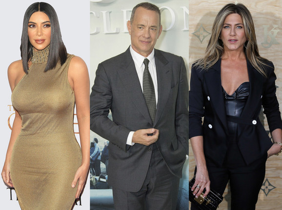 Kim Kardašijan, Tom Henks i Dženifer Aniston