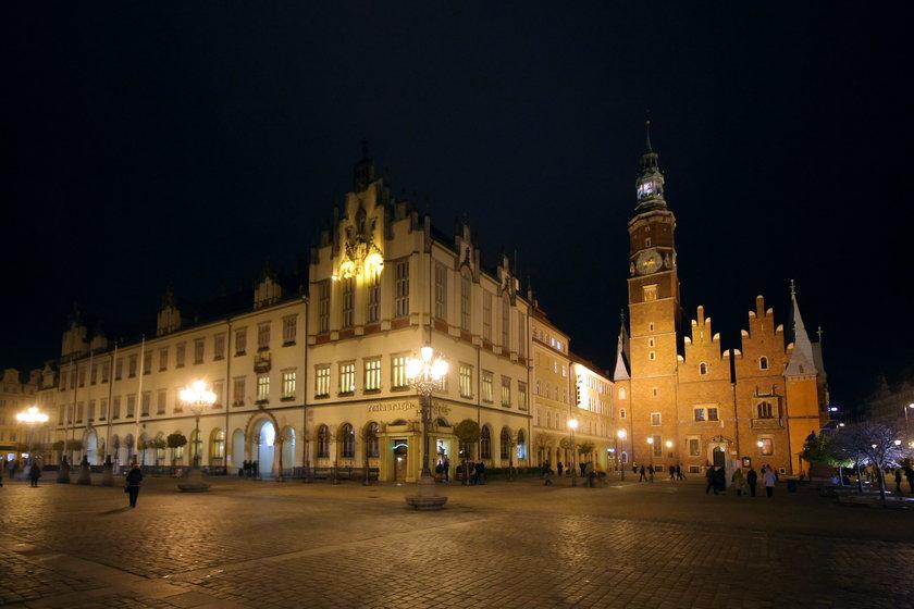 Wrocławski Ratusz nocą