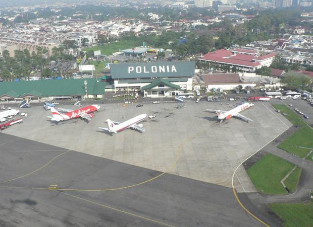 Lotnisko Polonia w Medan, Sumatra, Indonezja
