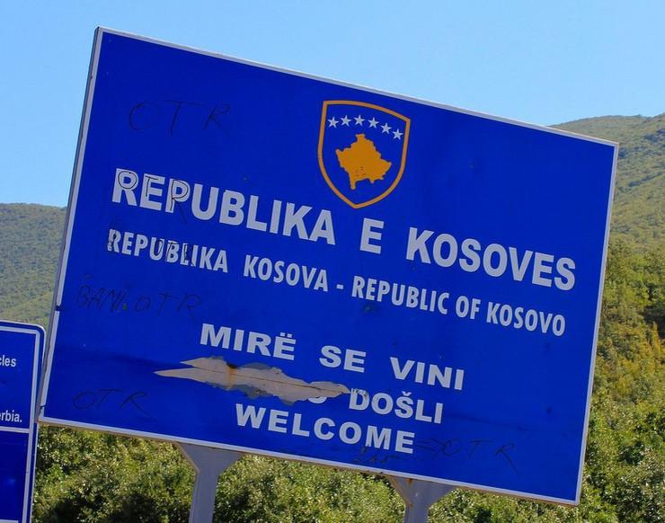 kosovo tabla granica