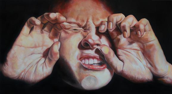 Marijan Muškinja, Soulbox 6, 2012, ulje na platnu, 100x180 cm