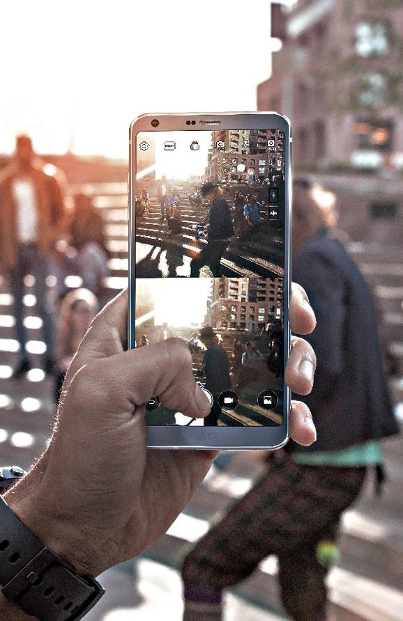 LG G6 daje mogućnost podeljenog ekrana i tokom snimanja fotografija