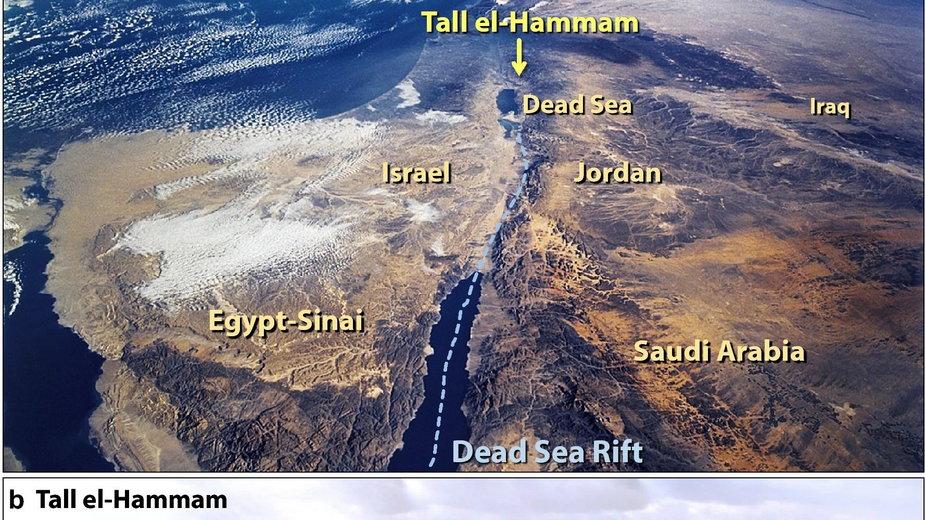 Położenie Tall el-Hammam