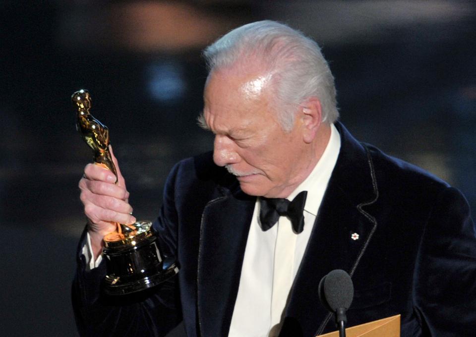 """Christopher Plummer - ceremonia w 2012 roku, Oscar za drugoplanową rolę w """"Debiutantach"""""""