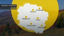 Prognoza pogody dla woj. kujawsko-pomorskiego - 18.11