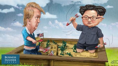 """Prezydent USA nie przebierając w słowach zagroził Korei Północnej mówiąc: """"Jeśli Korea Północna nie przestanie grozić Stanom Zjednoczonym, czeka ją ogień i furia, coś, czego świat jeszcze nie widział"""""""