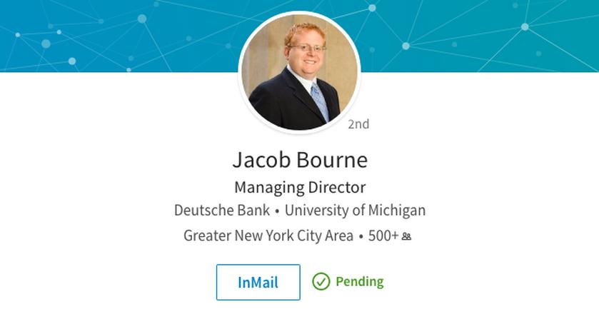 Jacob Bourne, trader, który odszedł z Deutsche Banku prawdopodobnie po stracie 60 mln dolarów