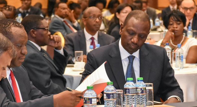 DP William Ruto with Treasury CS Henry Rotich during the launch of the Third Open Government National Action Plan (Twitter)