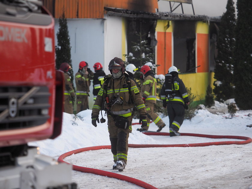 Pożar magazynu mebli w Łodzi