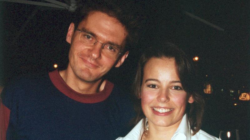 Kuba Wojewódzki i Anna Mucha  - rok 2002 (fot. Akpa)