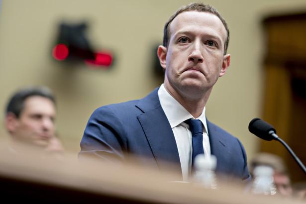 Mark Zuckerberg podczas wysłuchania w amerykańskiej Izbie Reprezentantów