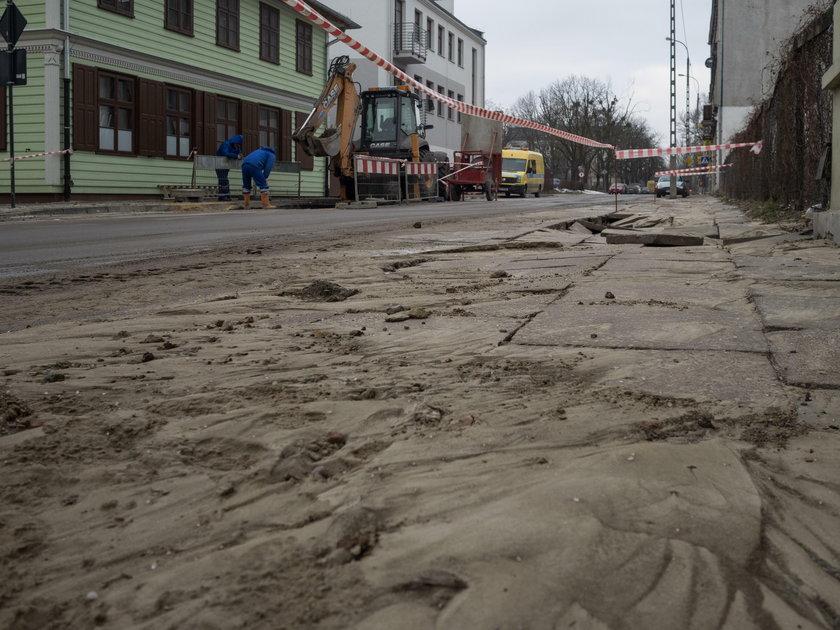 awaria wodociągowa, Łódź