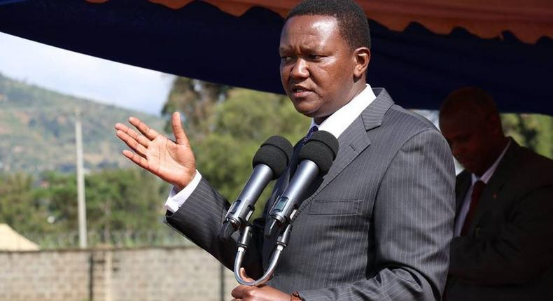 Machakos Governor Alfred Mutua during a past event