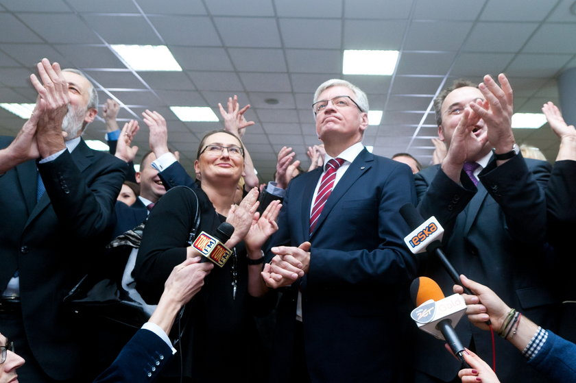 Tak Jaśkowiak świętował wyborcze zwycięstwo