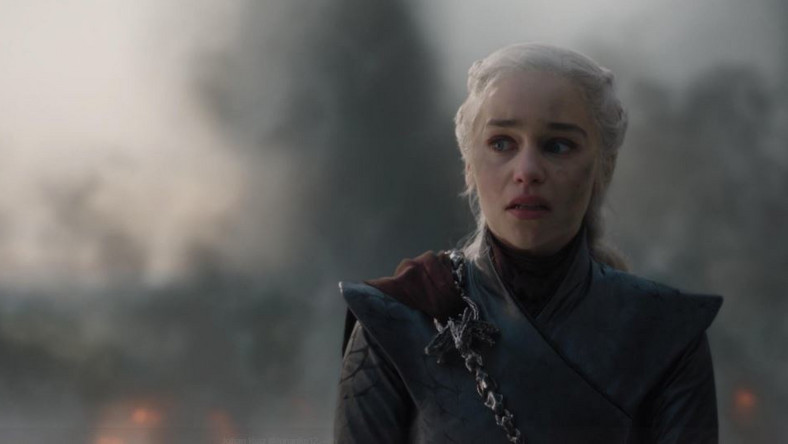 Daenarys when they rang the bell of King's Landing to signify surrender. (HBO)