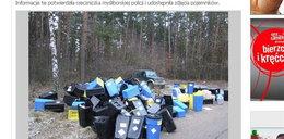 Toksyczne odpady w polskim lesie. Z Niemiec?