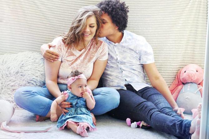 Porodična idila: Eduard sa Anom i Lunom