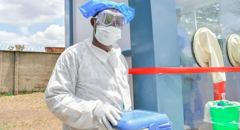 Nigeria records 394 new COVID-19 infections. [Twitter/@dabiodunMFR]