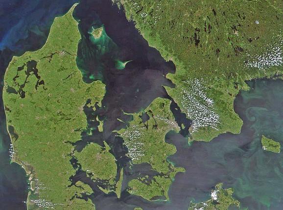Danska snimljena iz satelita