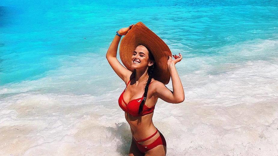 Miss Startu PGE Ekstraligi 2021 - Karolina Wojtiuk, na wakacjach