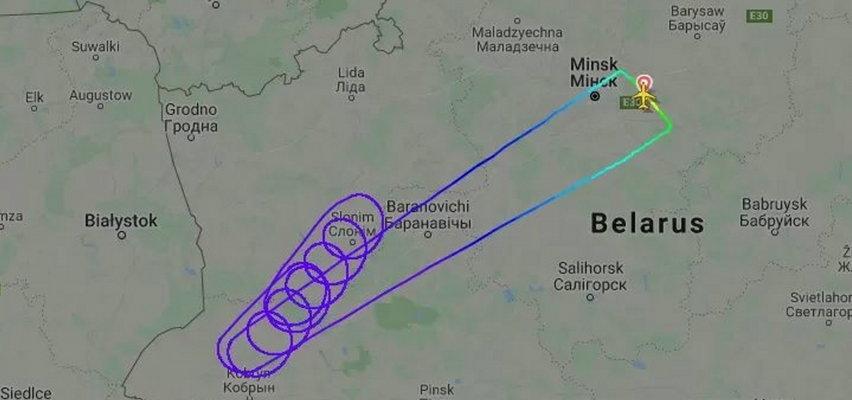 Samolot z Białorusi niewpuszczony do Polski. Zawrócił do Mińska