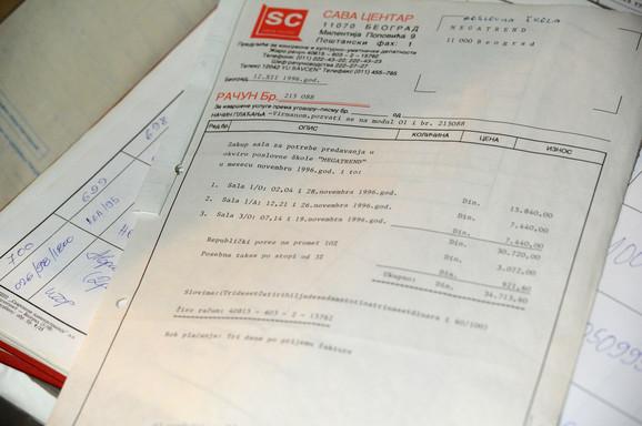 Potvrda o zakupu sala u Sava Centru za potrebe predavanja