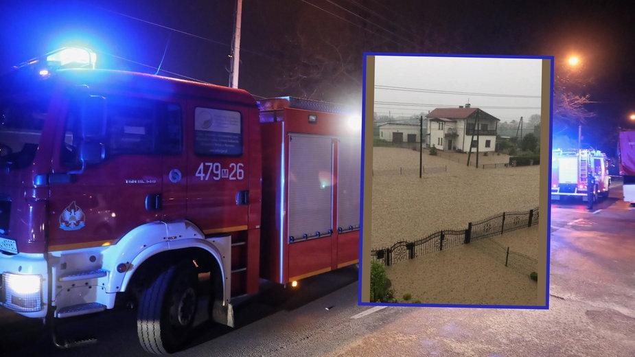 Straż pożarna interweniowała blisko 500 razy z powodu ulew