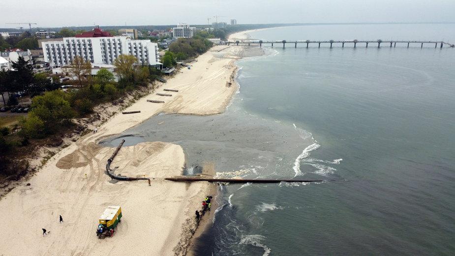 Poszerzanie plaży w Międzyzdrojach