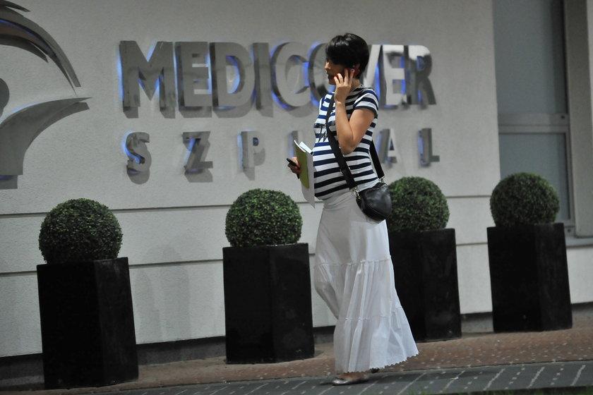 Dorota Gardias w szpitalu medicover