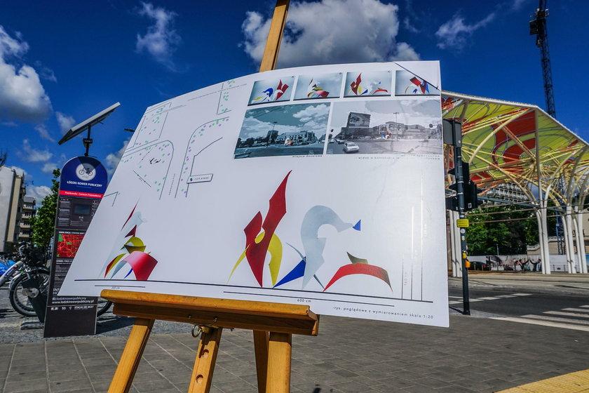 Pomnik rodziny jednorożców w Łodzi