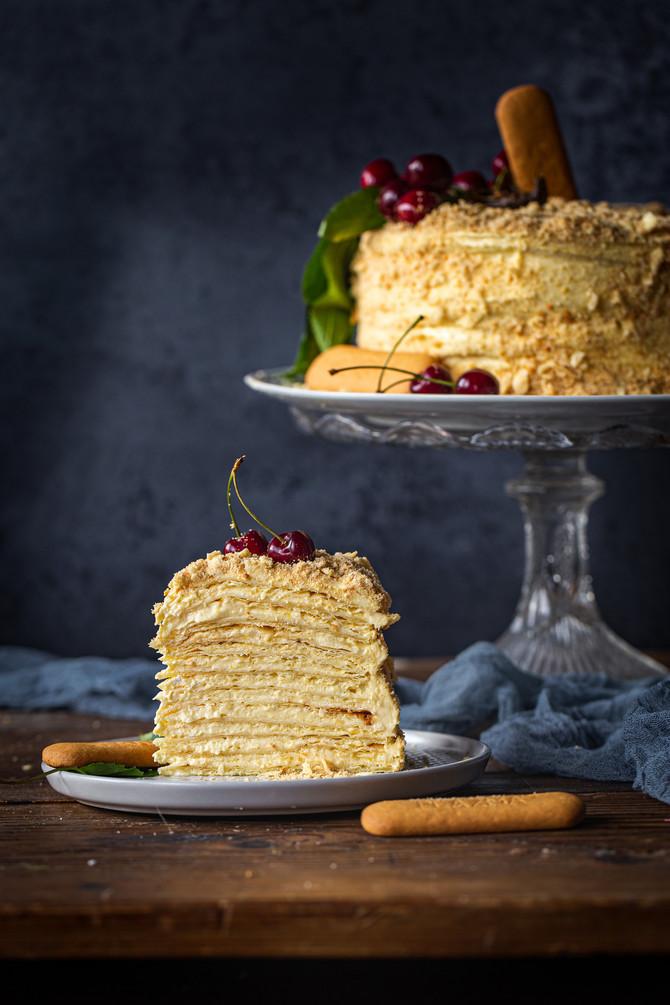 Napoleon torta sa kremom od Plazme