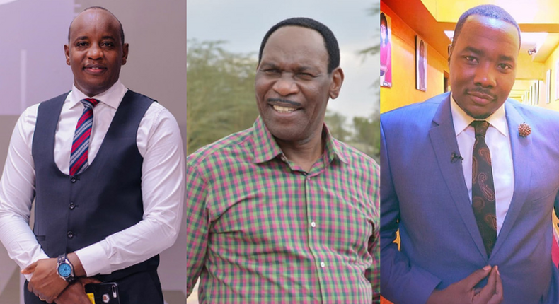 Linus Kaikai, Ezekiel Mutua and Willis Raburu