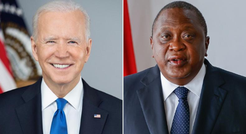 United States President Joe Biden and Kenyan President Uhuru Kenyatta
