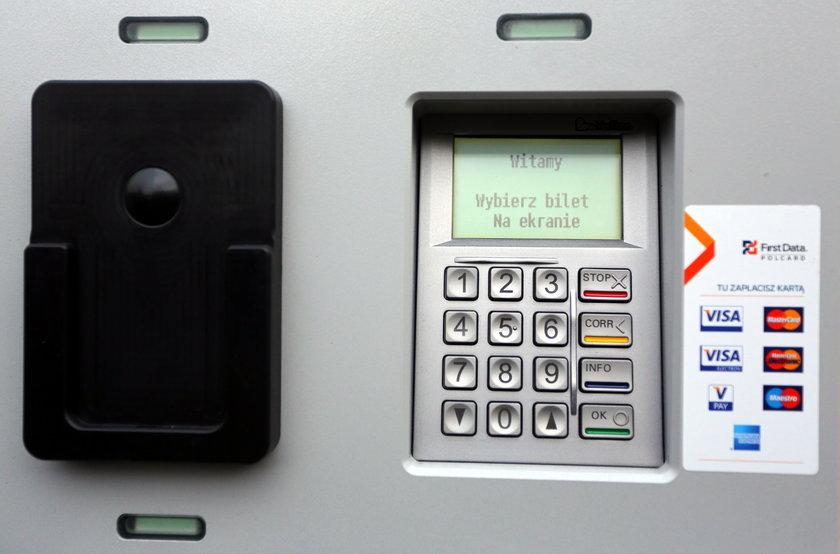 panel sterowania biletomatu w Łodzi