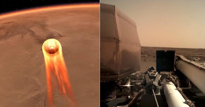 Sonda InSight sa dostala na Mars a spravila prvé snímky. 4921aa10252