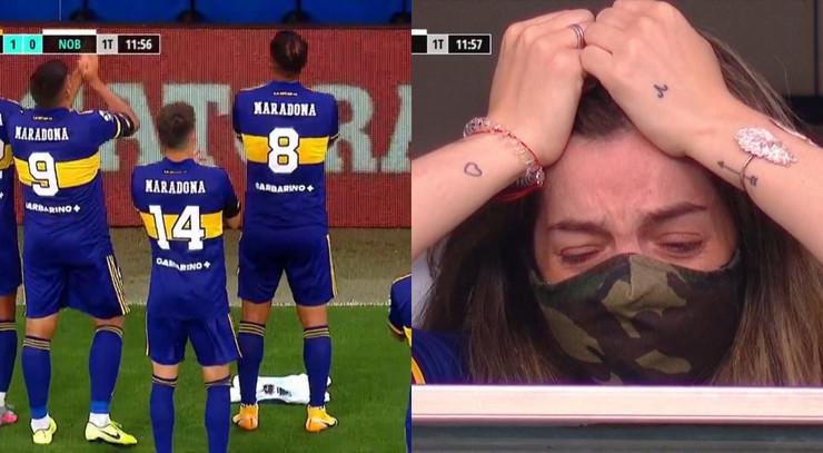 Dalma Maradona i igrači Boke