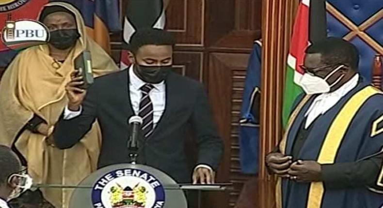 Abdulkadir Haji sworn in as Garissa Senator