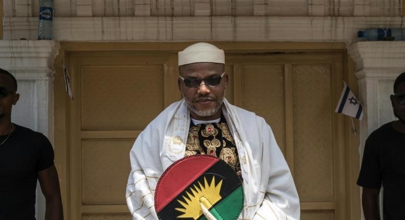 IPOB leader, Nnamdi Kanu disappeared from Nigeria following alleged invasion of his residence in Abia state by soldiers in 2017. (Punch)