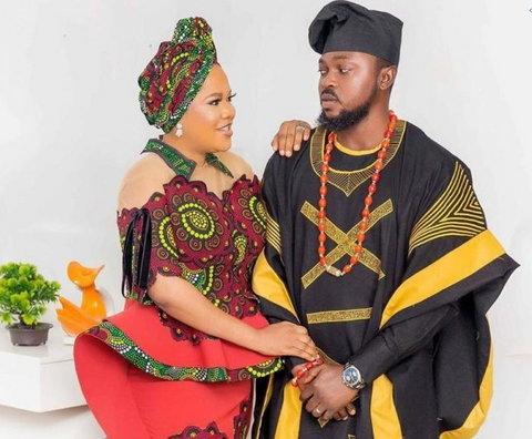 Nigerian actress Toyin Abraham and her husband, Kolawole Ajeyemi (NAN)