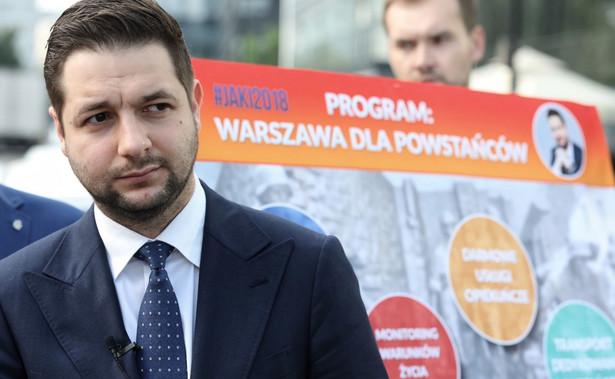 Kandydat Zjednoczonej Prawicy na prezydenta Warszawy Patryk Jaki zaprezentował w niedzielę swój sztab wyborczy