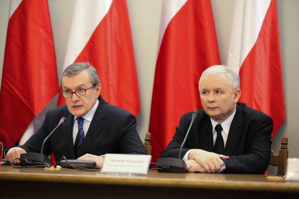 Piotr Gliński i Jarosław Kaczyński
