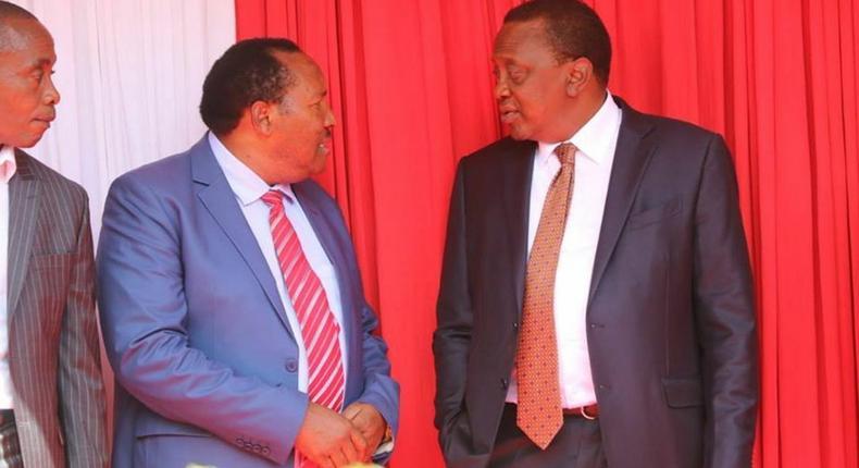 Kiambu Governor Ferdinand Waititu with President Uhuru Kenyatta