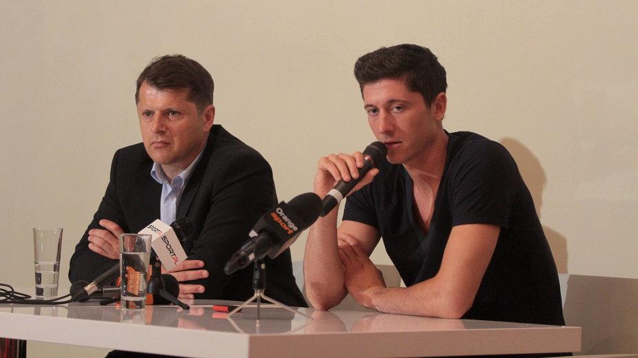 Cezary Kucharski i Robert Lewandowski