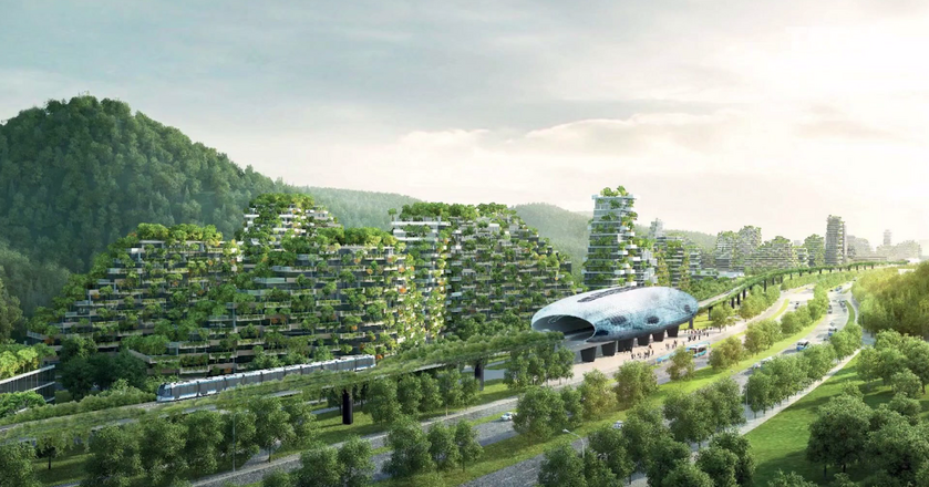 W Chinach powstaje miasto z milionem roślin i dziesiątkami tysięcy drzew