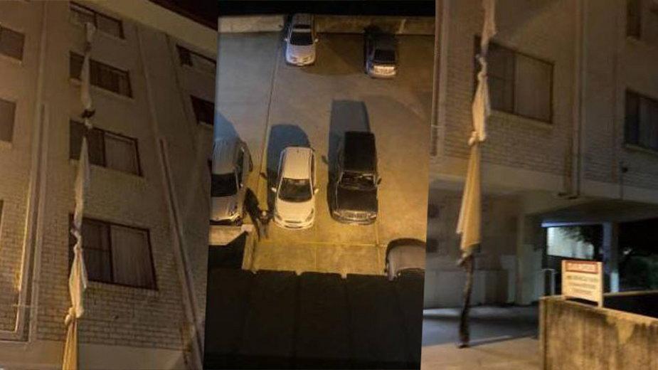 Mężczyzna uciekał z hotelu w Australii po prześcieradłach