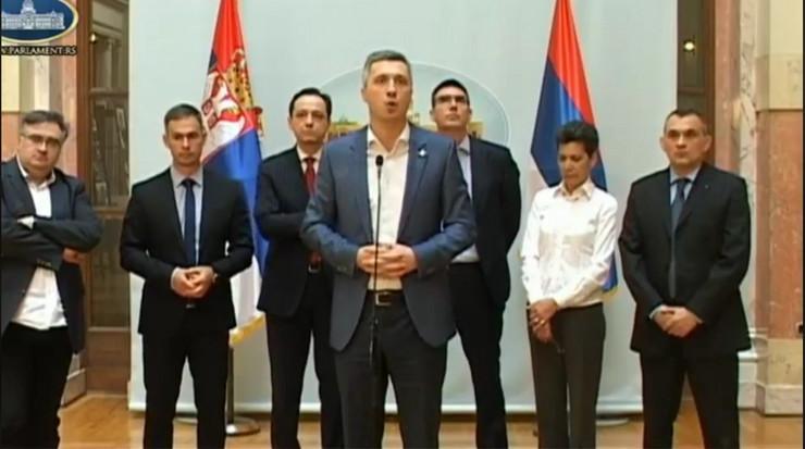 Savez za Srbiju, Boško Obradović, Skupština Srbije