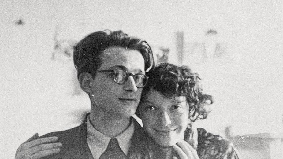 """Andrzej Wróblewski, """"[Autoportret z żoną III]"""" (niedatowana - maj 1954)"""