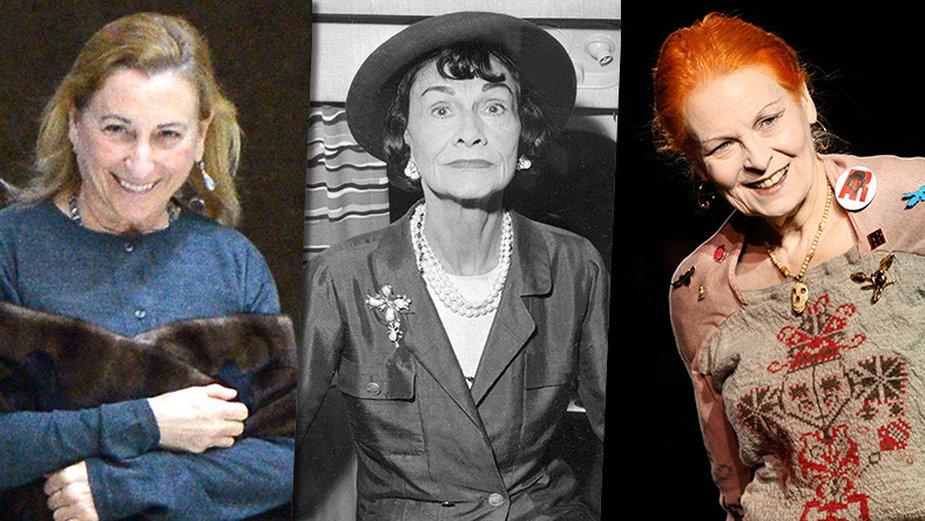 Miuccia Prada, Coco Chanel, Vivienne Westwood